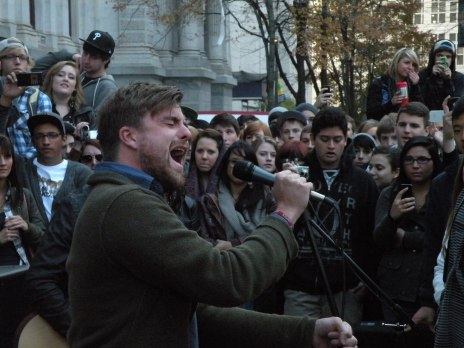 Anthony Green at Occupy Philadelphia at City Hall