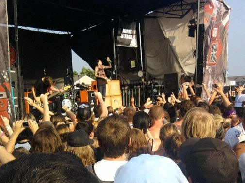 Bring Me The Horizon at Warped Tour 2010